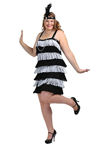 [Fun Costumes womens Jazz Time Honey Plus Size Dress 1X] (Plus Size Black Jazz Flapper Costumes)