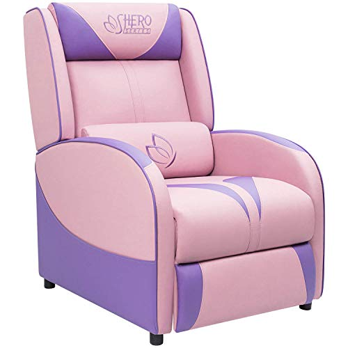 Pleasant Homall Chair Single Living Room Sofa Girl Purple Leather Home Theater Seating Pink Gaming Recliner Beatyapartments Chair Design Images Beatyapartmentscom