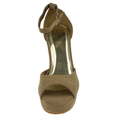 Ladies Spot On Sandals Grey I4YEHKMVMW