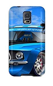New Style Michael Volpe Hard Case Cover For Galaxy S5- Boy And Racer Car Cartoon