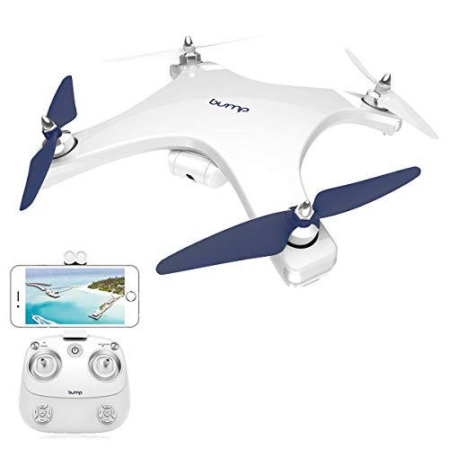 Bump F-15 5G Drone Wi-Fi HD Camera Live Video Smart Phone Enabled GPS Enabled Auto Follow and Return Home