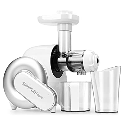 SimpleTaste Electric Juicer Extractor Juicer Blender Slow Juicer for Fruits and Vegetables (White)