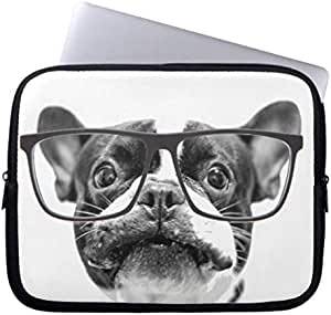 Dog French Bulldog Sunglasses Laptop Carrying Case Waterproof Laptop Sleeve Laptop Sleeve Bag Neoprene Handbag Protective Bag Cover Case for 13 15