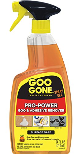 - Goo Gone Pro-Power Spray Gel - 24 Ounce - Surface Safe, Great Cleaner, No Harsh Odors, Removes Stickers, Can Be Used On Tools