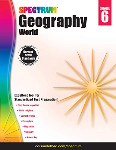 Carson-Dellosa Spectrum Geography Workbook: World, Grade 6