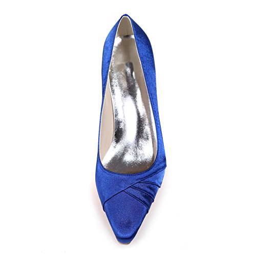 amp; More Silk Heels 0723 Party 08 Customization Tips Color Blue High Night Women Wedding YC available L R7fPqFE