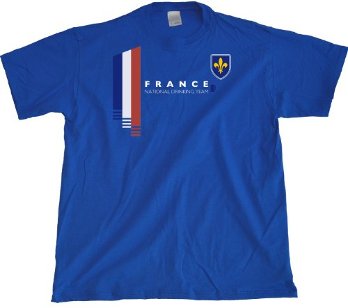 Ann Arbor T-Shirt Co. Men's France National Drinking Team T-Shirt