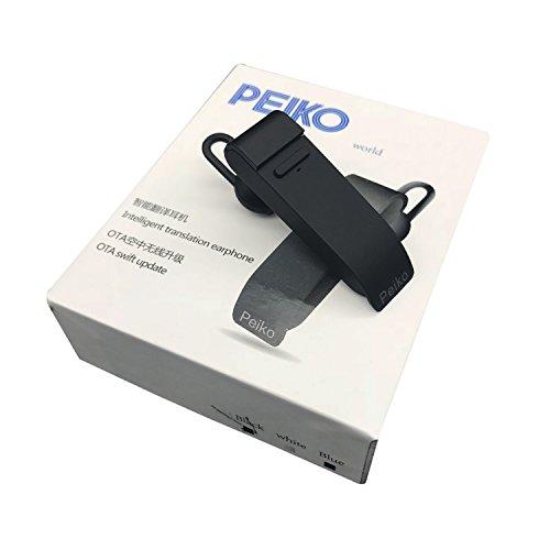 Language Translator Device Bluetooth Wireless Earphones Support 25 Languages Intelligent APP Online Translation Wireless Headphone Bluetooth Earbuds - Black by PEIKO