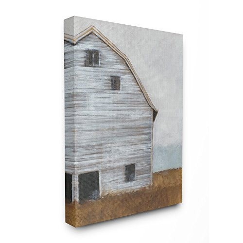 - The Stupell Home Decor Collection Worn Old Barn Farm Painted Stretched Canvas Wall Art, 16 x 20, Proudly Made in USA