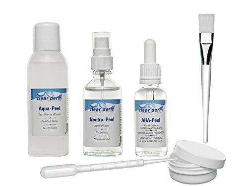 Clear.Derm FruchtsäurePeeling 70%, 0,5 pH, Profiheimbehandlung Sofort-Starter-Set, 6-teilig