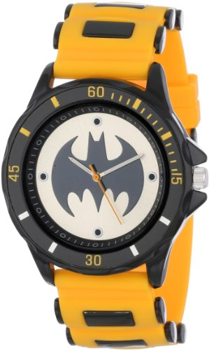 Batman Mens BAT9065 Yellow Rubber Strap Analog Watch