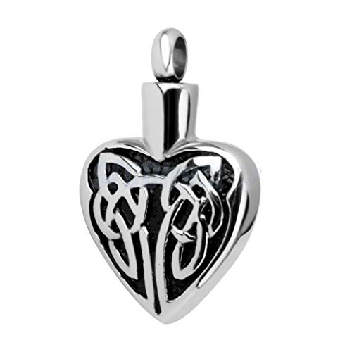 (Pet Cremation Jewelry Angel Wing Crystal Heart Pendant Memorial Urn Necklace Jewelry Crafting Key Chain Bracelet Pendants Accessories Best| Pattern Style - A7 Celtic Wings)