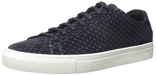 Armani Jeans Impreso de ante la zapatilla de deporte de la manera Blue