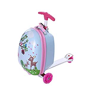 Amazon.com | SODKK Scooter with Luggage Suitcase, Kids ...