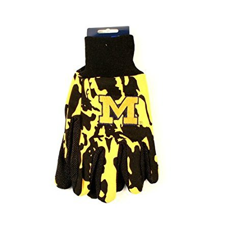 McArthur NCAA Michigan Wolverines Team Color Camo Utility Gloves