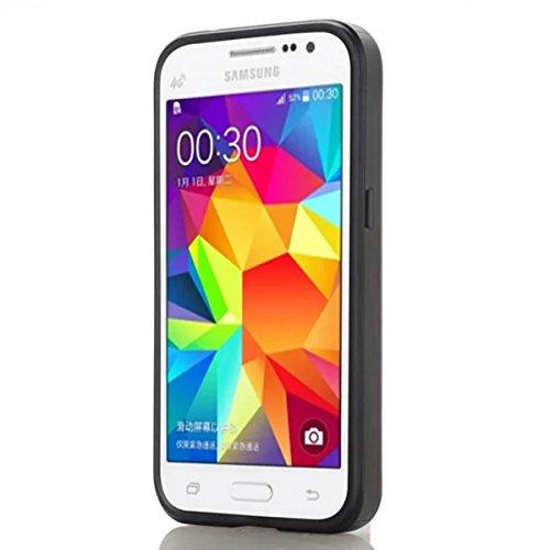 Samsung Galaxy Grand Prime G530 Funda, adorehouse Billetera Estuche Case [Anti Scratch] [Heavy Duty] [Ranura para tarjetas] Dual Layer Hybrid Rubber Bumper Funda protectora para Samsung Galaxy Grand P Azul Marino