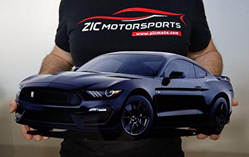 ZIC Motorsports 2019 Ford Mustang Shelby GT350 Car Cutout Heavy Duty Metal Garage Wall Sign - 23 X 10 - Shadow Black