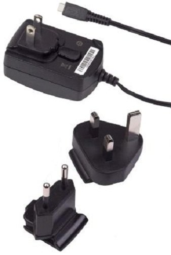 004 Original Oem Blackberry (BlackBerry Micro-USB Travel Charger with Global Adapter Clips - Original OEM ASY-18080-001 ASY-18080-003 ACC-39344-301)