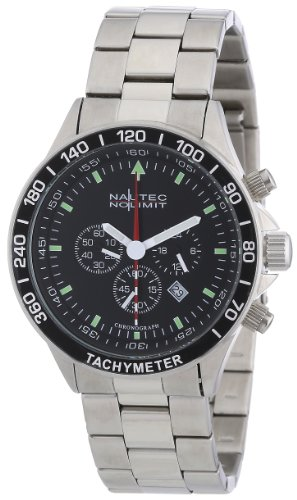 Nautec No Limit Men's Quartz Watch Mistral 2 MS2 QZ2/STSTSTBK with Metal Strap