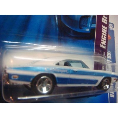 - Hot Wheels 1969 Dodge Charger White - Blue #58 Scale 1/64 Collector