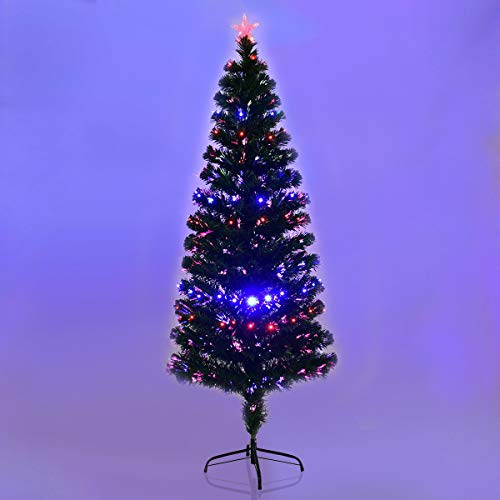 White Fibre Optic Christmas Tree With Blue Led Lights in US - 8