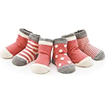 Izzy & Roo Heathered Baby Socks and Toddler Socks for Girls and Boys - Set of 4 Pair