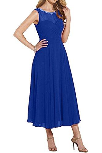 Kurz Rock La Marie Abendkleider Wadenlang Blau Linie Damen Royal Braut A Brautmutterkleider Partykleider I1ITw