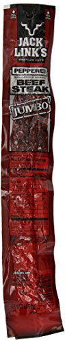 Jack Link's Premium Cuts Beef Steak, Peppered, Jumbo, 2-Ounce (Pack of 12)