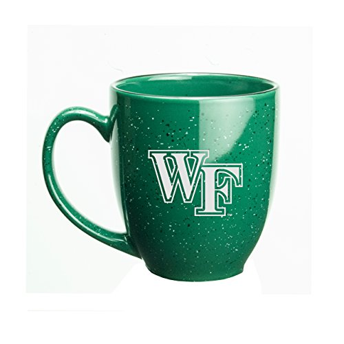 CC Glass Wake Forest Demon Deacons Deep Etched 15 oz. Green Bistro Mug