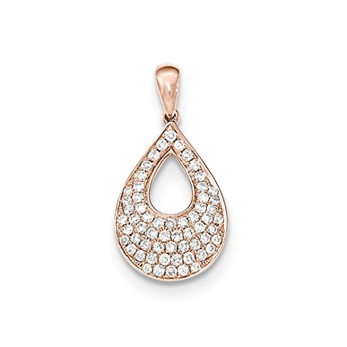 ICE CARATS 14kt Rose Gold Diamond Teardrop Pendant Charm Necklace Cluster Fine Jewelry Ideal Gifts For Women Gift Set From Heart 14kt Gold Cluster Drop Necklace