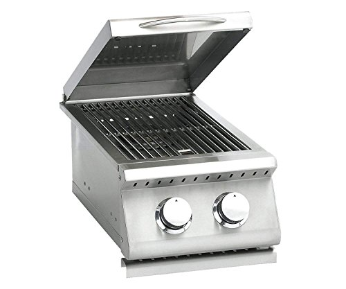 Summerset Sizzler Series Built-In Double Side Burner (SIZSB-2-NG), Natural (Two Side Burners)