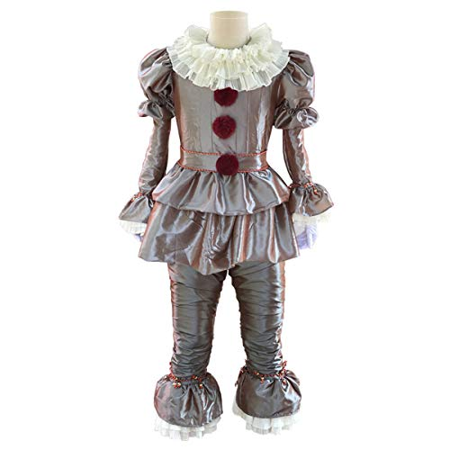 iCos Men's Adult Dancing Clown Joker Dressed Up Halloween Costume Party Outfit (Medium)]()