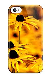 Christmas Gifts Anti-scratch Case Cover Protective Yellow Flowers Case For Iphone 4/4s