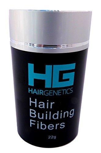 Fibras capilares reconstructoras Hair Genetics, en un dispensador de 22 g, con queratina avanzada