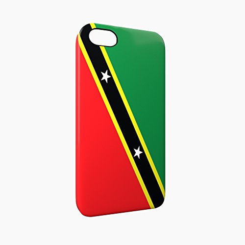 Flag of Saint Kitts and Nevis Glossy Hard Snap-On Protective iPhone 5 / 5S / SE Case Cover