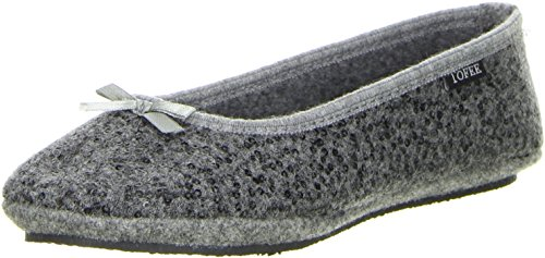 Gris Tofee Anthracite Femme Ballerines Chaussons AFBnF