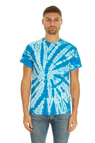 Ribbed Tee Tie Dye (Krazy Tees Tie Dye T-Shirt, Twist Royal, S)