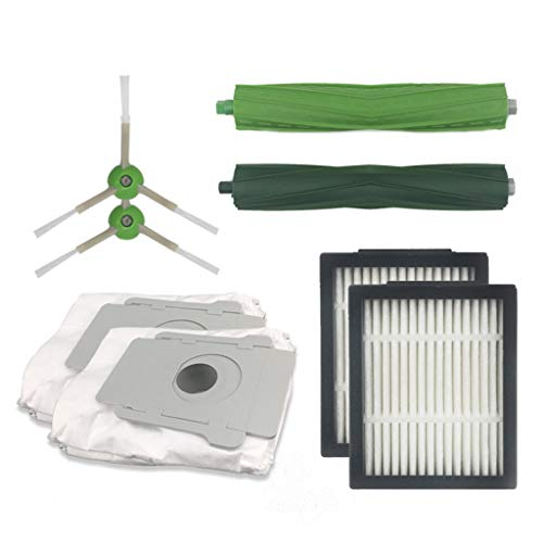 Price comparison product image liumiKK Vacuum Cleaner HEPA Filters Green Side Roller Brushes Replacements Set For iRobot Roomba i7 E5 E6