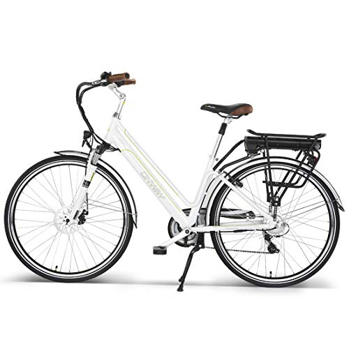 - Onway 7 Speed 700C Woman City Electric Bicycle, 36V Brushless Motor, Removable Lithium Battery, 70038c Tire