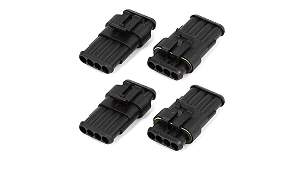 Amazon.com: eDealMax 4 pin conector impermeable manera automática Parte 4 Kit: Car Electronics