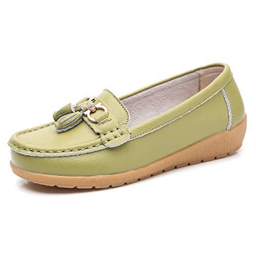 FLYRCX Zapatos Planos Antideslizantes cómodos de la Manera Casual Boca Baja con los Zapatos de la Parte Inferior Suave Zapatos de Trabajo de Las señoras Zapatos de Las Mujeres Embarazadas R