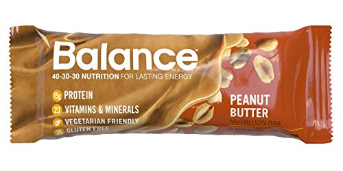 Balance Bar, Healthy Protein Snacks, Peanut Butter, 1.76 oz, 6 Count ()