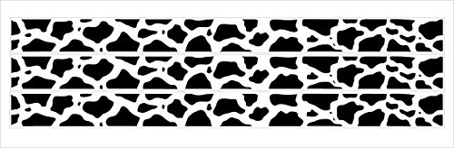 Cow Border - Cow Print Border Wall Decals / Stickers in White with Black Cow Prints / Farm Animal Theme Border Wall Decals