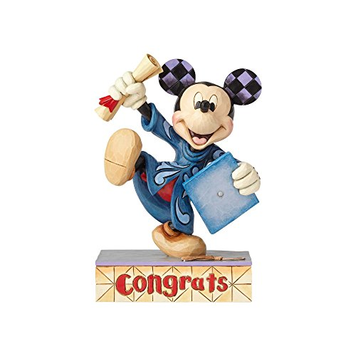Jim Shore Disney Traditions by Enesco Mickey Graduation Figurine ()