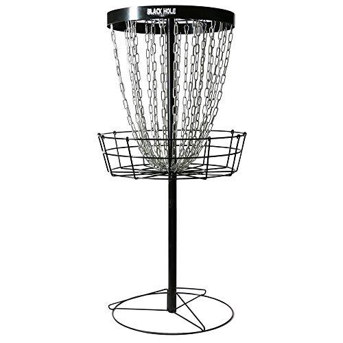 - MVP Black Hole Pro 24-Chain Portable Disc Golf Basket Target (Renewed)