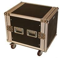 Seismic Audio - 10 SPACE RACK CASE Amp Effect Mixer PA/DJ - Wheel/Casters