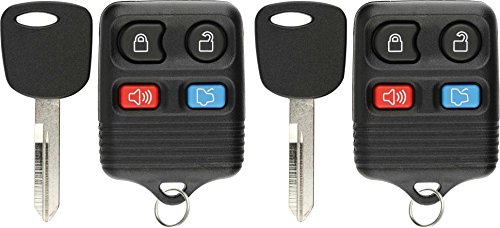 KeylessOption 4 Item Bundle 2 Key Fobs Keyless Entry Remotes 2 Uncut 4C Ignition keys - Mustang Key