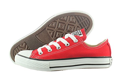 (Converse Chuck Taylor All Star Canvas Low Top Sneaker red 3 M US Little)