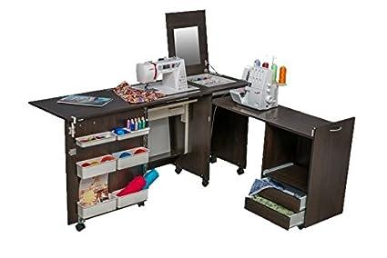 Comfort 3 | Muebles para máquinas de coser y overlock | (Premium White, M
