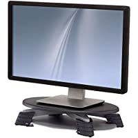Fellowes(R) LCD Monitor Riser, Translucent Graphite Top With Platinum Base